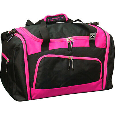 Travelers Club Xpedition 21-Inch Multi-Pocket Gym Bag - Black and Pink