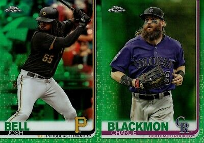 2019 Topps Chrome Green Refractor #/99 W/ Rookie Rc Singles You Pick & Complete