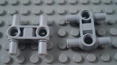 New LEGO Lot of 8 Light Bluish Gray Technic Pin Connector Pieces with Arm