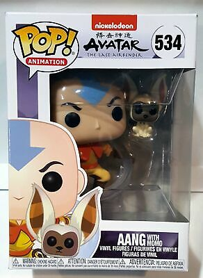 Funko Pop! Animation Avatar The Last Airbender Aang with Momo #534