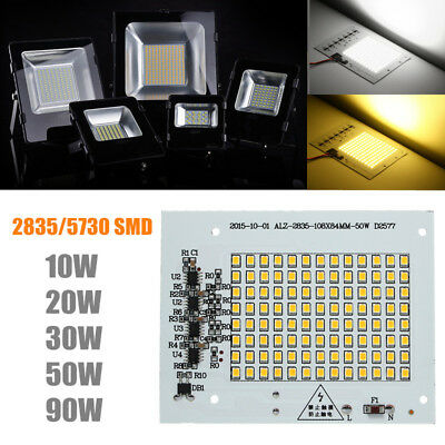 10/20/30/50/90W Smart IC Led COB 2835 5730 Chip Bead Proiettore Lampada