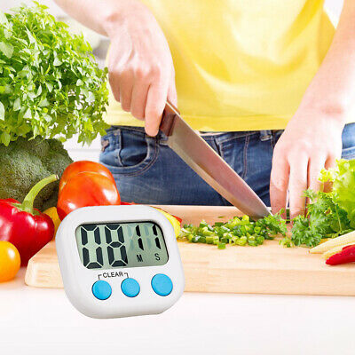 Large LCD Digital Kitchen Count Down Up Clock Loud Alarm Magnetic Cooking Timer