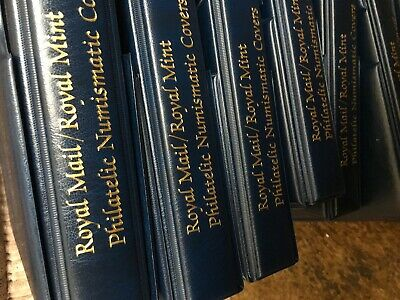 Royal Mail Album Blue Philatelic Numismatic In Case With Pages Clean Buy It Now