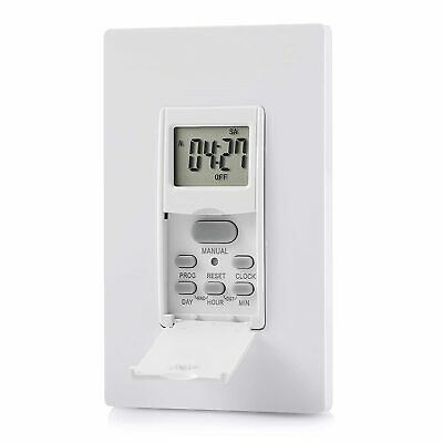 Grounded Etl Countdown In Wall Programmable Switch Timer Auto Bathroom Fan Light Electrical Outlet Timers Home Garden Worldenergy Ae