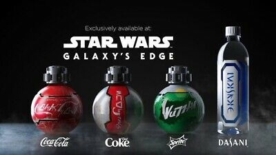 Disneyland Star Wars Galaxy's Edge Coca Cola Set + Desani Water NEW AND SEALED