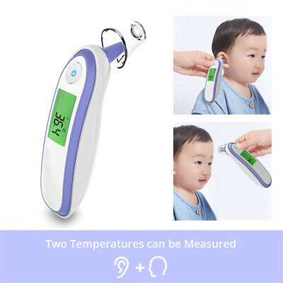 Ear Forehead Fahrenheit Digital Medical Infrared Thermometer For Baby Children #