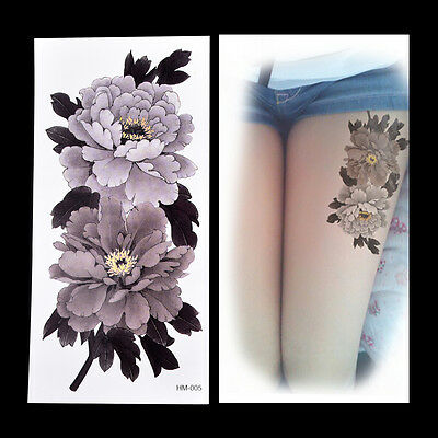 Fake Temporary Tattoo Sticker China Peony Flower Arm Body Waterproof Women A9H