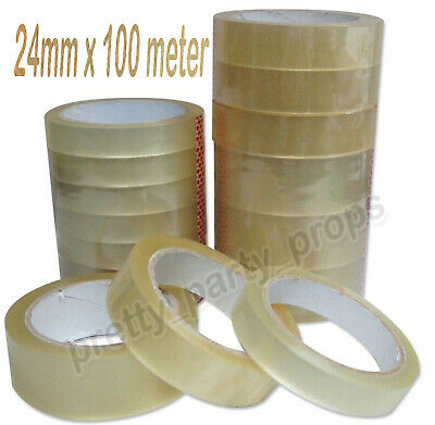 Extra Strong Clear Long Sellotape 48Mm X 250M Low Noise Large Parcel Packaging