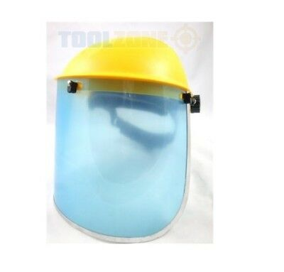 Clear Safety Flip Up Full Face Shield Visor - Eye Protecter - Strimmers,Tools
