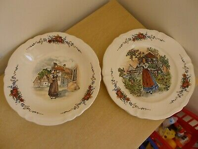 "Obernai Sarreguemines Large Bowl & 13.5"" Serving Plate - Vintage"