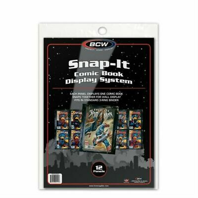 COMIC BOOK SNAP-IT - BLACK x 12 (BCW)