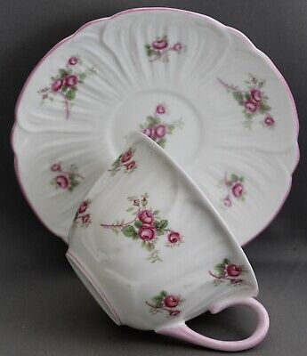 Shelley Teacup & Saucer-Bridal Rose  M374