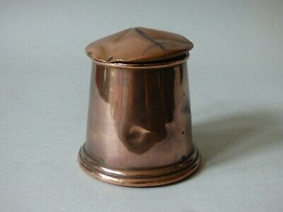 Small Collectable Antique Benson Arts & Crafts Copper Metal Lid Pot Free Uk P+P