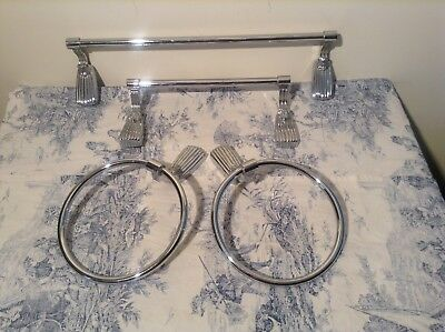 Vintage French Towel Rail or Towel Ring - Choose One Item (3266)