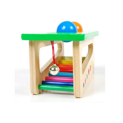 Kids Wooden Musical Instrument Rainbow Pound and Tap Bench with Xylophone W