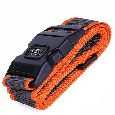 Luggage Straps Adjustable Suitcase Baggage Belts with 3-Dial Combination Lock