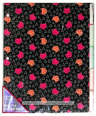MADE FOR RETAIL* 101pc Set PAGE DIVIDERS+CALENDAR/ORGANIZER PAGES Cats+Zebras