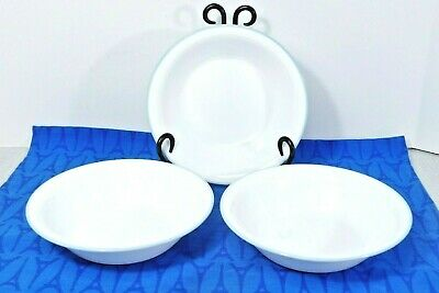 "3 Corning CORELLE  Summer Meadow Soup / Cereal Bowls 7 1/4"",  MINT"