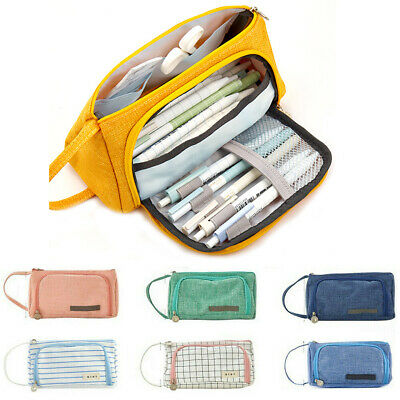 Pencil Case Large Capacity Multifunction Pen Box School Stationery Cosmetic Bags