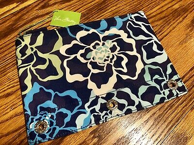 Vera Bradley Pencil Pouch KATALINA BLUES Pen Case for NoteBook Binder Art NWT