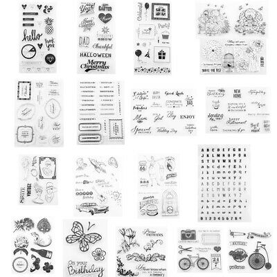 Transparent Acrylic Silicone Rubber Clear Stamps Sheet for Scrapbook Photo Album