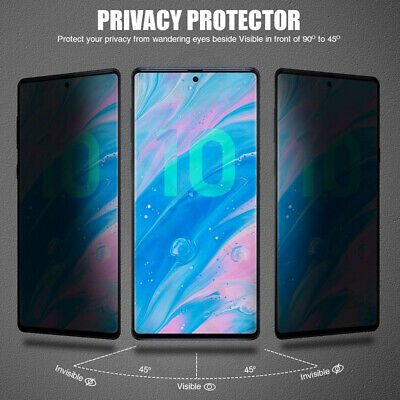 Privacy Anti-Spy Temper Glass Screen Protector for Samsung Galaxy Note 10 S9 S8+