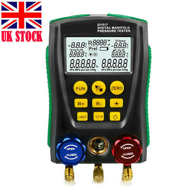 Digital Manifold Gauge Refrigeration Pressure Tester HAVC 2-Way Valve Tools