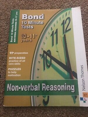 Bond 10 Minutes Test Non Verbal Reasoning  Aged 10-11 Plus
