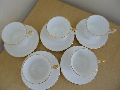 5 Royal Albert Val D'Or Coffee Cups & Saucers - 1st Quality - Super Condition!