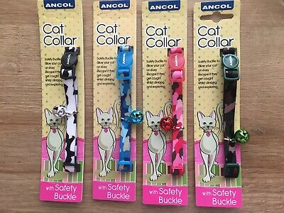 Ancol Camouflage Cat/kitten Collar with Bell Size 29cm-30cm