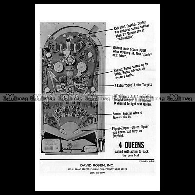 thoughts on many styles classic styles 1970 BALLY 4 Queens Pinball Machine Rubber Ring Kit - aka ...
