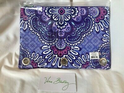 Vera Bradley Pencil Pouch LILAC TAPESTRY Pen Case for NoteBook Binder Art NWT