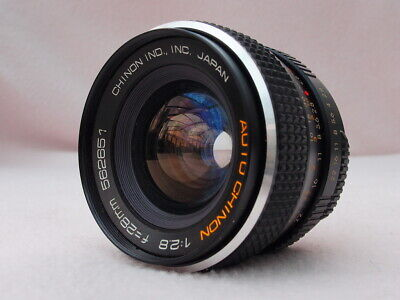 CHINON 28mm F2.8 M42 WIDE ANGLE LENS CAN FIT PENTAX K, CANON EOS, EF, DIGITAL