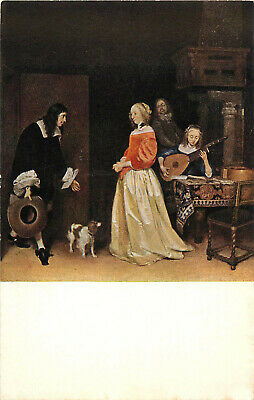 Postcard The Suitor's Visit, National Gallery Of Art
