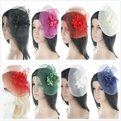 Rose Feather Headband Aliceband Hat Fascinator Weddings Day Race Royal Ascot H03