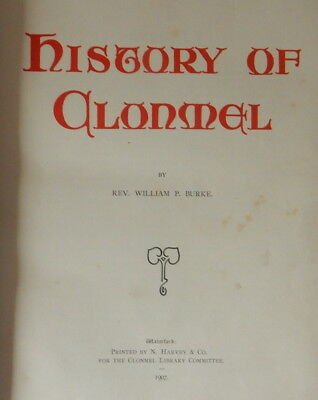 History of Clonmel, Ireland/Burke's History/Rare/Collectible/Irish/Antique/First