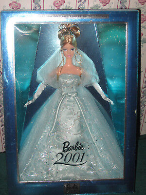 2001 Mattel Turquoise Gown Holiday Special Edition Barbie