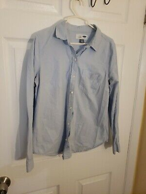 Old Navy Womens classic Shirt Size small Button Front light blue (PRE-OWNED)