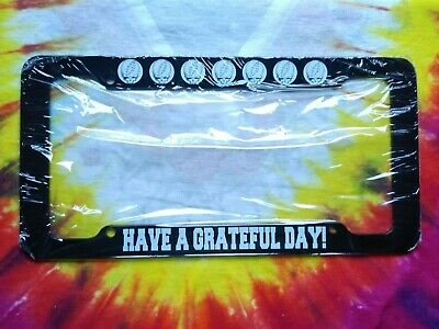 Grateful Dead Have A Grateful Day! Steal Your Face License Plate Frame