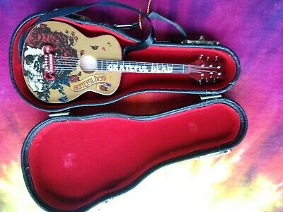 Grateful Dead Bertha Guitar with Case Christmas Ornament