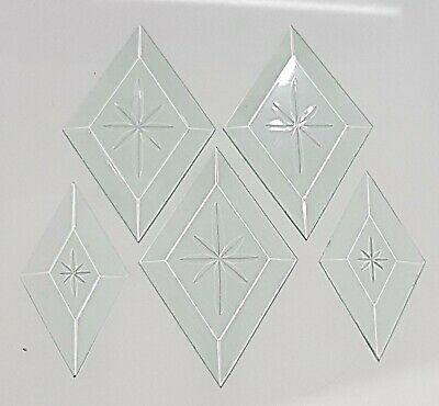 🇦🇺 5 leadlight stained glass bevels set2- star engraved copper foil supplies