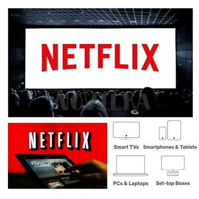 Netflix Gift & Warranty: 4K UltraHD | 4 Screens | 1 Month | 100% Personal HD Acc