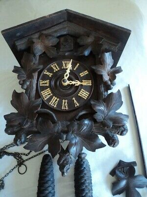 Large Vintage/antique Black Forest Cuckoo Clock Sold For Parts or Restoration.