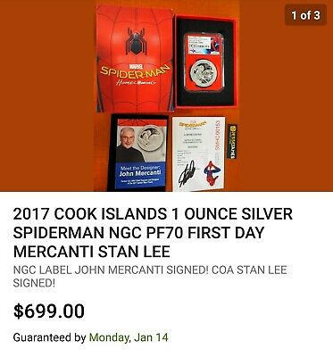 2017 Cook Islands Silver $5 - Spider-Man: Homecoming - PF70 UC FDOI - NGC Coin