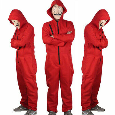 Unisex For Salvador Dali La Casa De Papel Money Heist Cosplay Costume + Mask
