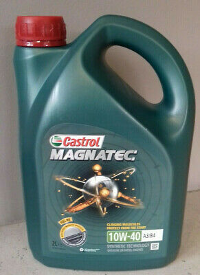 Castrol Magnatec 10W-40  A3/B4 Engine Oil - 4 X 2 Litre = 8 LITRES. COLLECTION