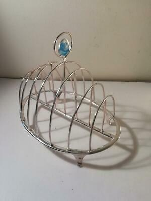 An Antique George III Six Division Silver Toast Rack : London 1797