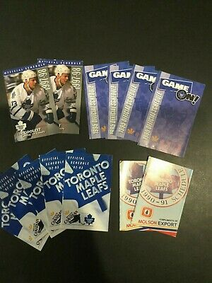 Lot of 13 - NHL Toronto Maple Leaf  Pocket Calendars