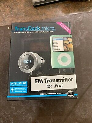 Transdock Micro Fm Transmitter For Ipod +charger