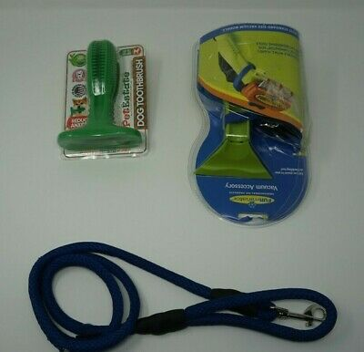 Gooby 4Ft Dog Leash, Dog Toothbrush, & Ferminator Vacuum Accessory For Dog Owner